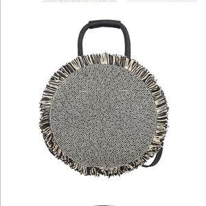 Handbags - LAST ONE ❗️Round Straw Bag Black